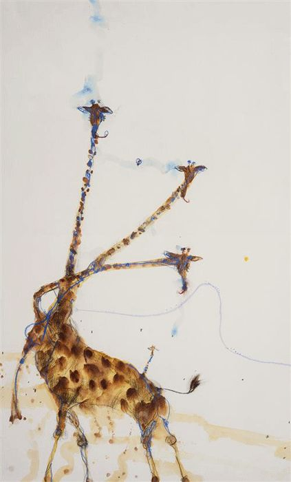 "John Olsen ""Giraffes at Mt Kenya II"" from Etching House"