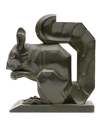 Found on www.botterweg.com - A patinated spelter squirrel design Max Le Verrier 1891- 1973 executed by Le Verrier Foundry / France ca.1925