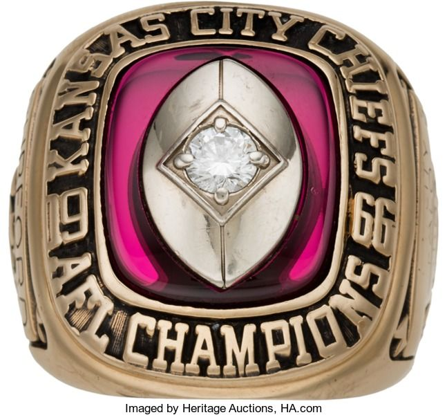 Football Collectibles:Others, 1966 Kansas City Chiefs AFL Championship Ring (Super Bowl ...