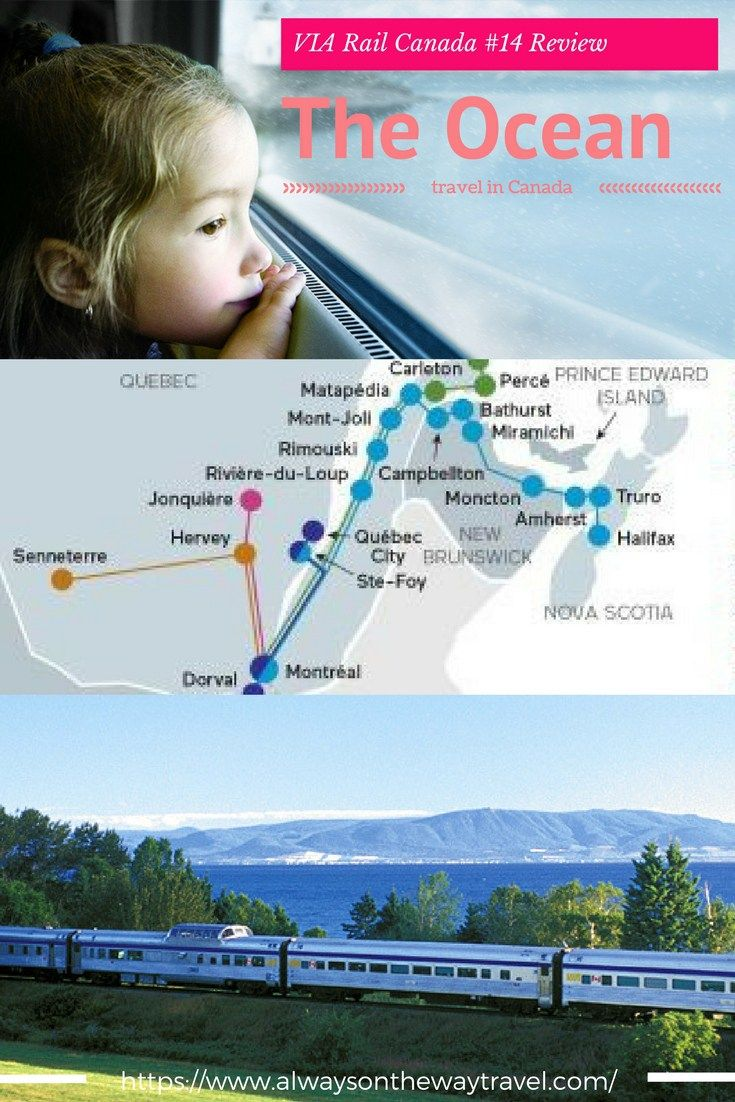 If there is one trip that makes you discover the appealing part of the East Canada, it is the VIA Rail No. 14, aka The Ocean, takes you from Montreal to Halifax, and cross the ocean to New Brunswick in the dawn.