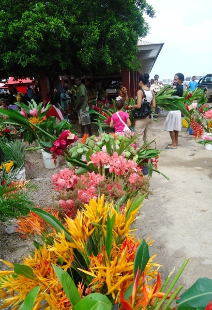 Flowers of Vanuatu - sold at the Port Vila market every Friday - one of our favourite places to buy supplies and eat with the locals.