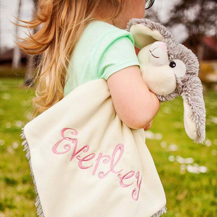 Bunny Snuggle Buddy by SignatureLittleOnes on Etsy