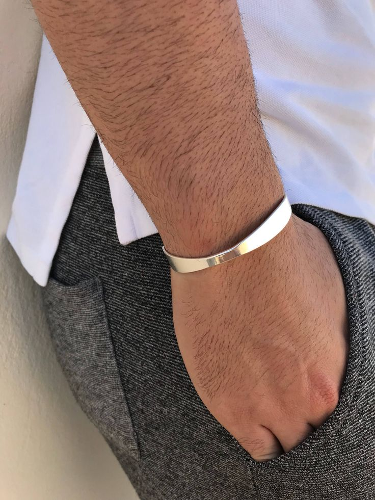 Excited to share the latest addition to my #etsy shop: Silver Cuff Bracelet, Men's Bracelet, Cuff Bracelet Men, Bangle Bracelet Men, Gift for Him, Made in Greece, by Christina Christi Jewels. http://etsy.me/2DGk6bs #jewelry #bracelet #silver #yes #unisexadults #silverc