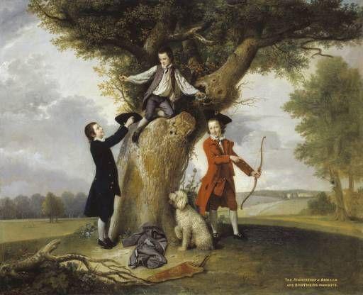Johan Zoffany 'Three Sons of John, 3rd Earl of Bute', c.1763–4