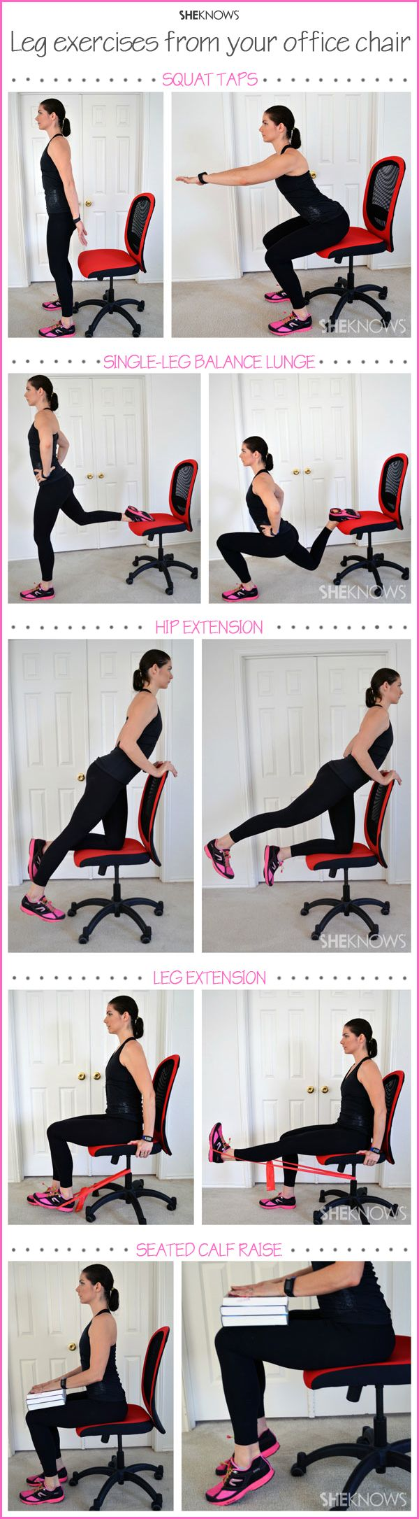 Do you work in a office? Then work out your legs while sitting at your desk.    If you like this pin,  repin it, like it, comment and follow our boards :-) #FastSimpleFitness