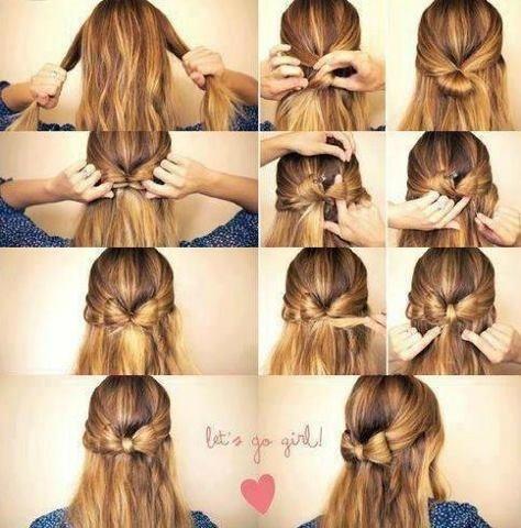 Adorable half ponytail bow