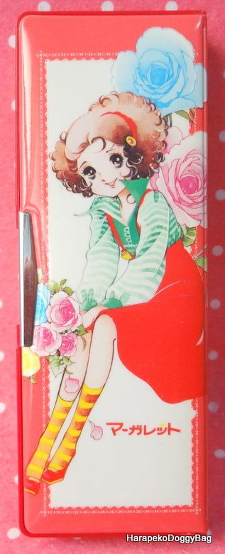 A vintage Japanese pencil case from the 1970s. The Margaret Comics stationery item was made by Venice. The illustration on the cover is by Chizuko Yamada / Chizuko Suzuki, a shojo manga artist during the Showa Period in Japan.