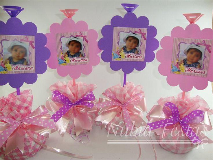 Nubia festas centro de mesa princesas decoraciones - Decoraciones de mesas ...