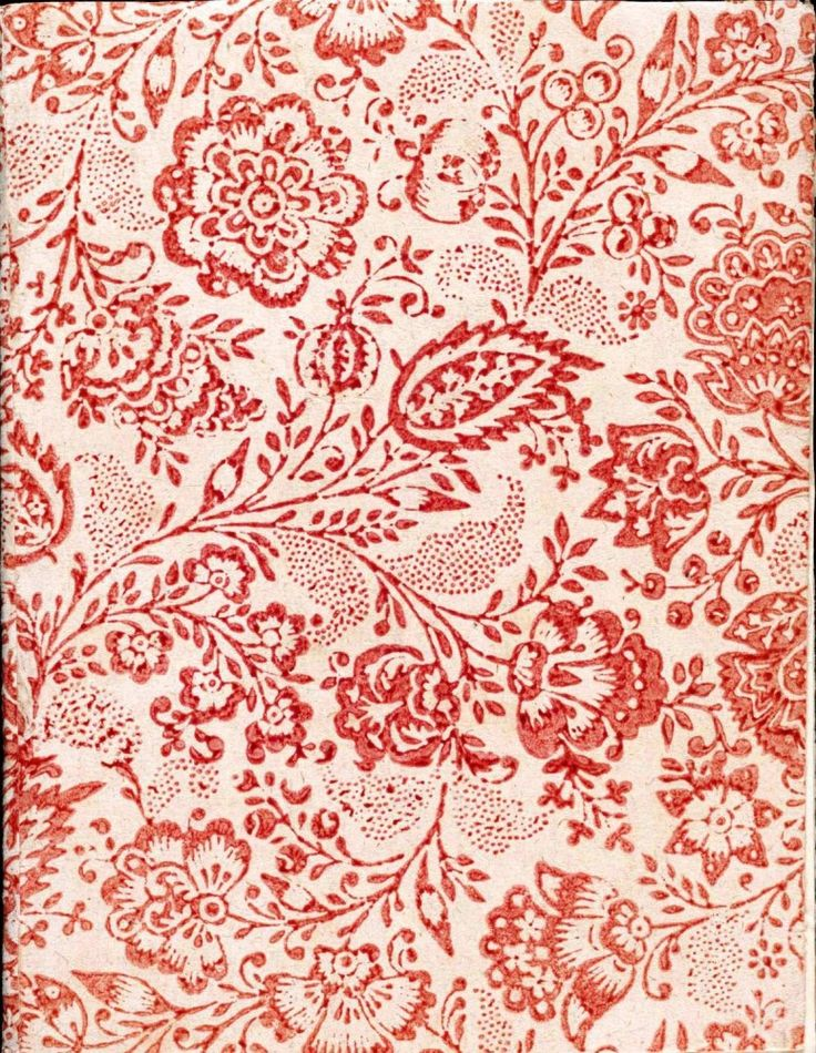 oneenchantedelephant: Design - Paper - Pattern - Floral Red floral pattern.