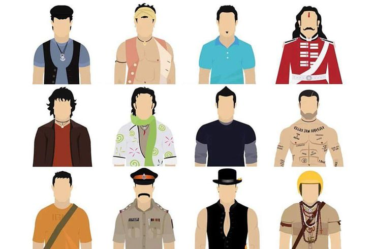 Aamir Khan's some characters from movies