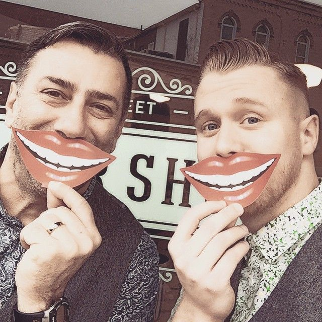 Just a #RegularDay here at the #BarberShop . #SmileMonth in #OxfordCounty and #NationalDentalHygieneWeek . Show us those #SmileLines and #PearlyWhites . #BrockStreetBarber . #KeepItHandsome