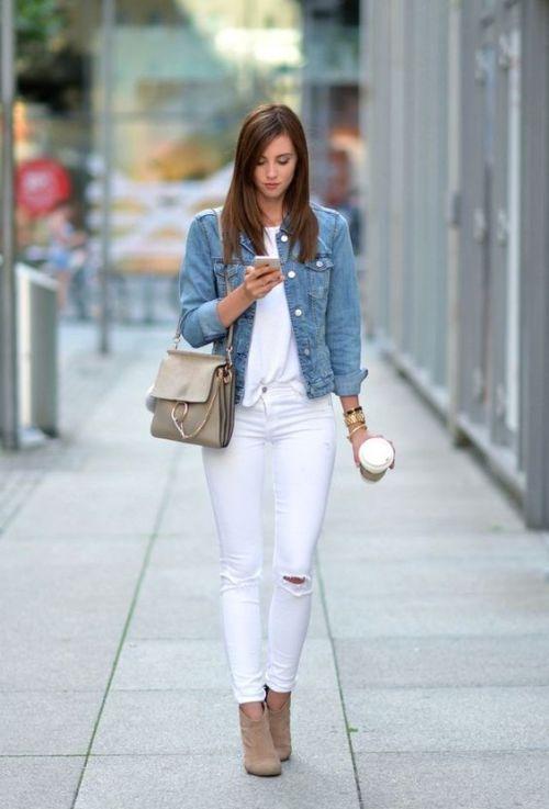 Formas de estilo jeans blancos este verano  estaesmimodacom   ropa modelitos combinar moda joven 6814b1774e4