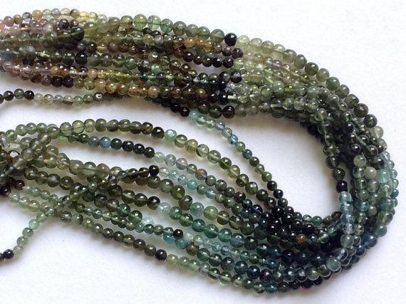 Green Tourmaline Beads Green Blue Tourmaline by gemsforjewels