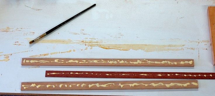 Step 3: The inlay pieces are glued
