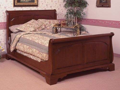 Cherry Sleigh Bed by Colonial Furniture (570) 374-8091
