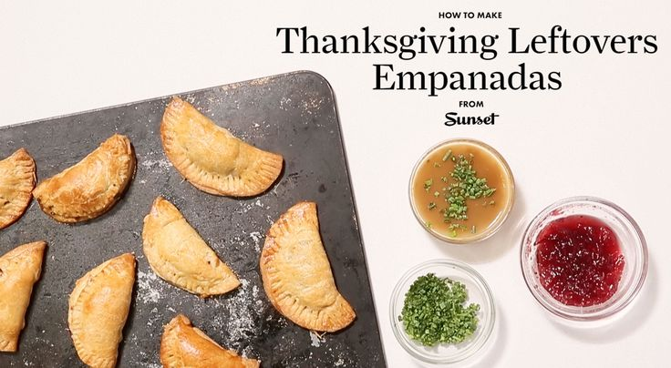 Thanksgiving leftover empanadas