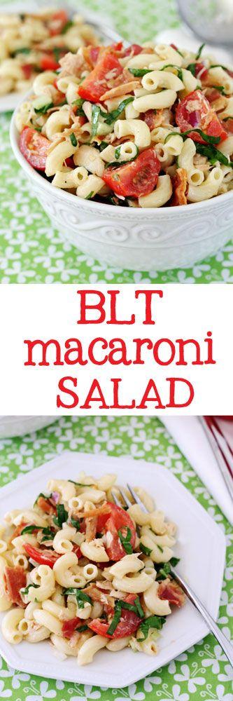 BLT Macaroni Salad #salad