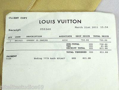 100% Authentic Louis Vuitton Speedy 35 Damier Ebene Great ...
