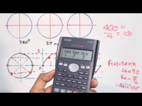 Modo DEG/RAD/GRAD de una calculadora científica