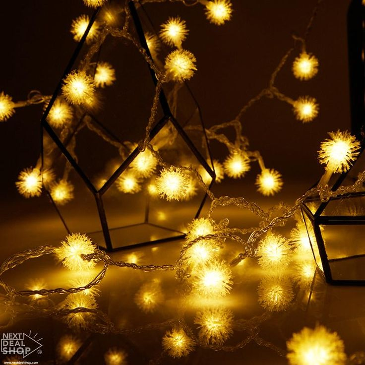 Warm White Dandelion LED String Lights (Battery Operated)