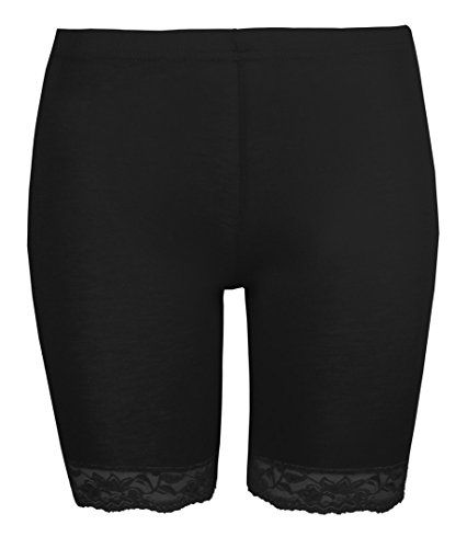 Womens Cycling Shorts Ladies Lace Trim Cycle Shorts Exclusively By Love Lola® Stretch Black Leggings - http://www.darrenblogs.com/2017/03/womens-cycling-shorts-ladies-lace-trim-cycle-shorts-exclusively-by-love-lola-stretch-black-leggings/