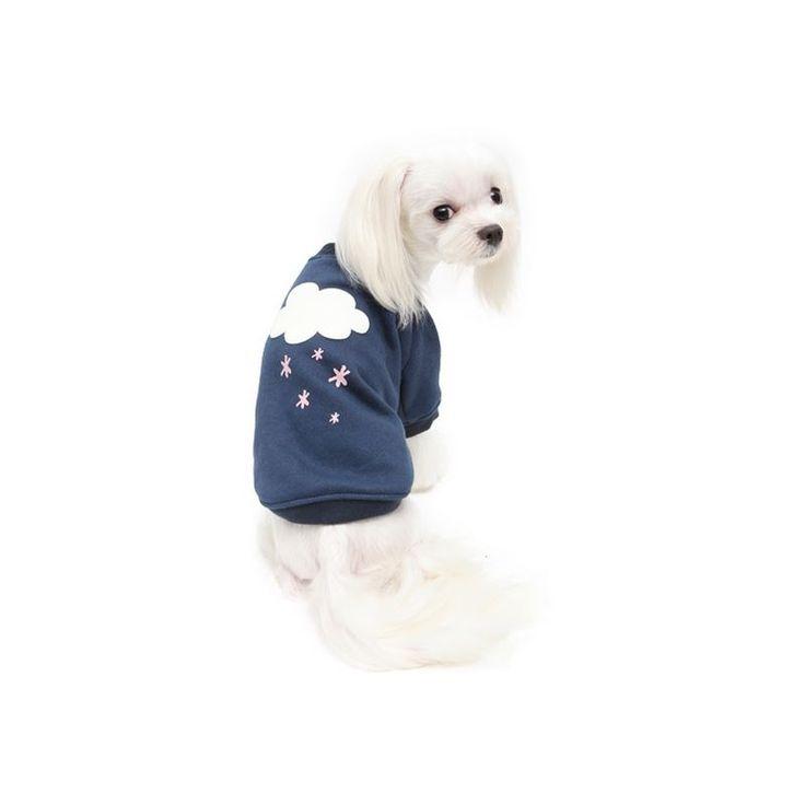 Sudadera SNOW para #perro de la firma Puppy Angel. 95% algodón. Disponible en color #azul