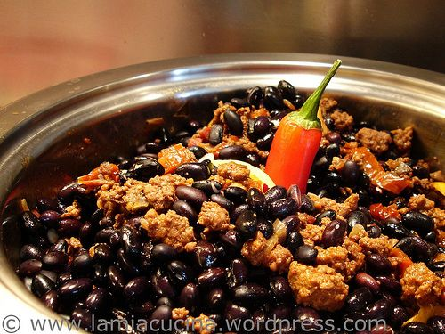 Chili con carne casalinga | Food - Sauces, other stuff on top, or get ...