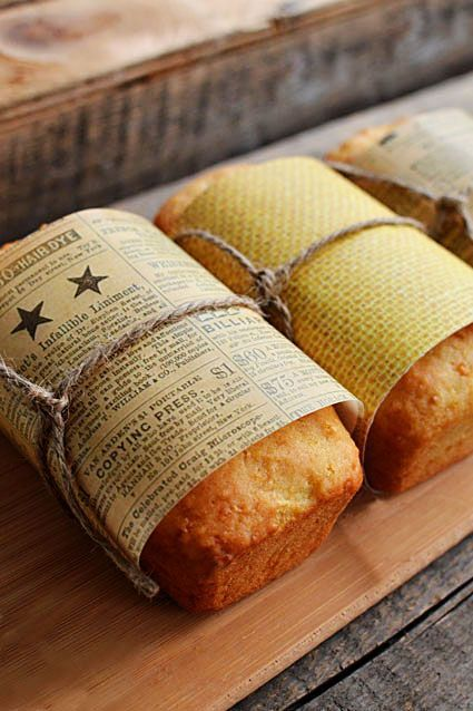 Lemon Loaf (with Zucchini): Mini Loaf Favors