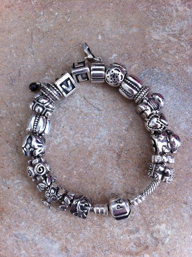 Full Silver Pandora Bracelet One Of Mine Has A Solid Gold