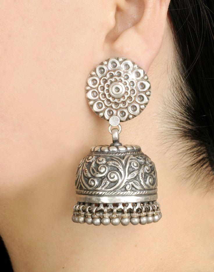 Fabindia.com- my loveee... i m obsessed with silver jewellery.. n jhumkaas r my fav
