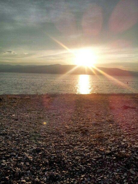 Sunset at bear lake Utah