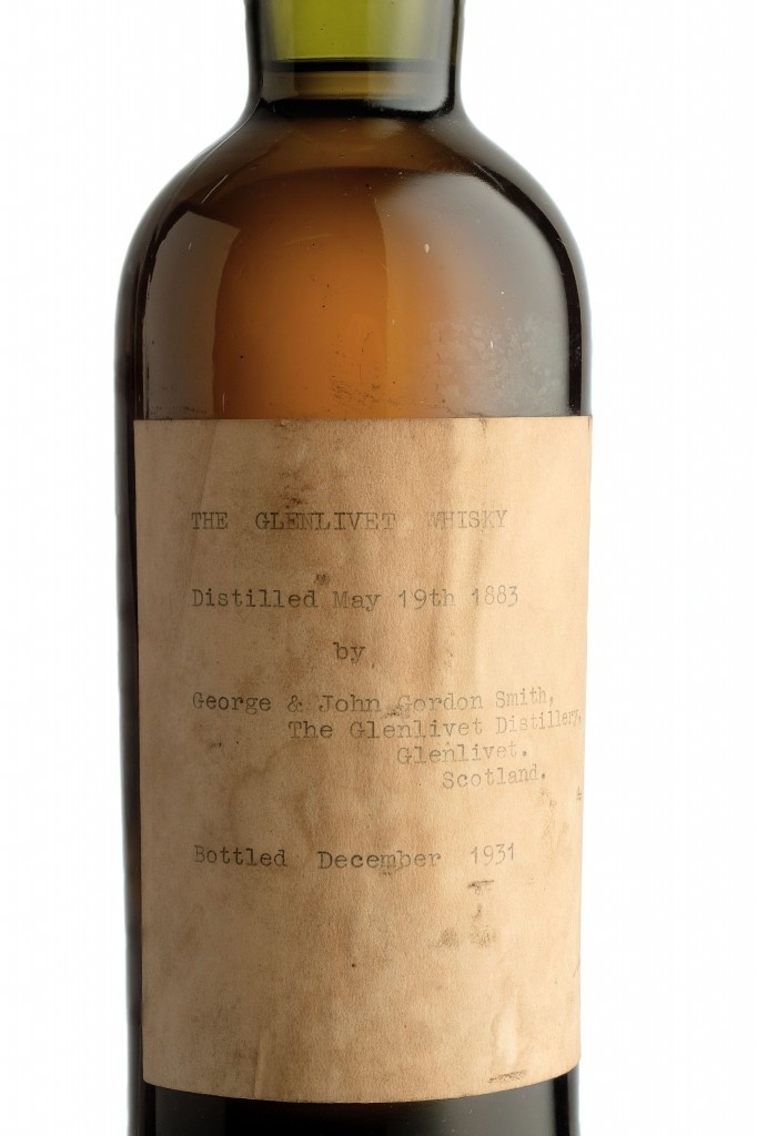 An exceptionally rare bottle of The Glenlivet, distilled in 1883 and bottled in 1931 by George & John Gordon Smith, is to be auctioned by Bonhams at their whisky sale in Edinburgh on 12 October. It has a pre-sale estimate of £15,000-20,000.    The bottle has an impeccable pedigree. It was originally owned by Captain William Smith Grant, the great grandson of Colonel George Smith founder of The Glenlivet Distillery and has been in the family ever since.