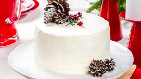 Новогодний торт с клюквой