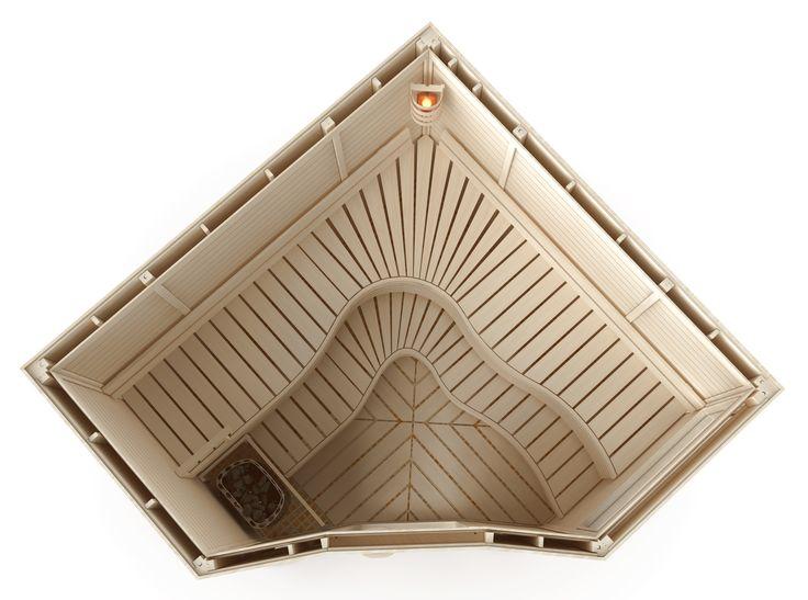 Aspen is sustainable raw material and it looks good in your sauna.  #SaunaBenches #Saunanlauteet #Haapasauna #Aspen #Sauna