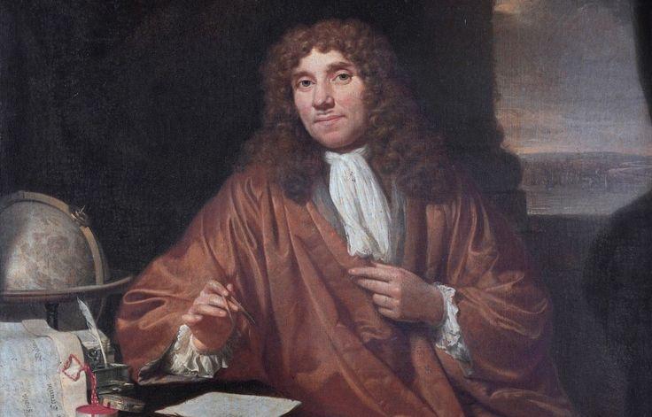Anthonie van Leeuwenhoek (1632-1723) Antonie van Leeuwenhoek heeft de microscoop uitgevonden en is bedenker van de microbiologie. Hij is geboren in Delft. Eigenlijk heette hij Thonis Philipszoon, maar later noemde hij zichzelf Antonie van Leeuwenhoek. Hij heeft nooit een wetenschappelijke opleiding gevolgd, maar studeerde wel. Hij was ongeveer 5 jaar opgeleid tot kassier en boekhouder. Hij nam niets aan van anderen, hij redeneerde zelf.