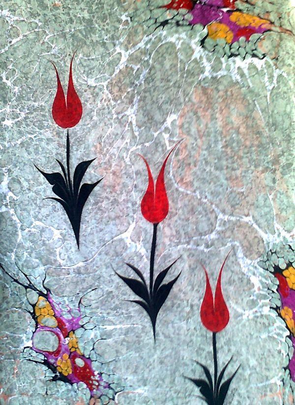 Mukadder Kavas | Ebru Sanatı Atölyesi , Marbling Art | Antalya/Turkey