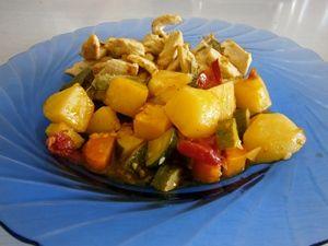 Tacchino aromatizzato con ratatouille di verdure http://arrangerchef.com/?page_id=1151