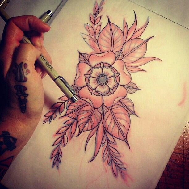 Best 25 traditional flower tattoos ideas only on for Tattoo style flowers