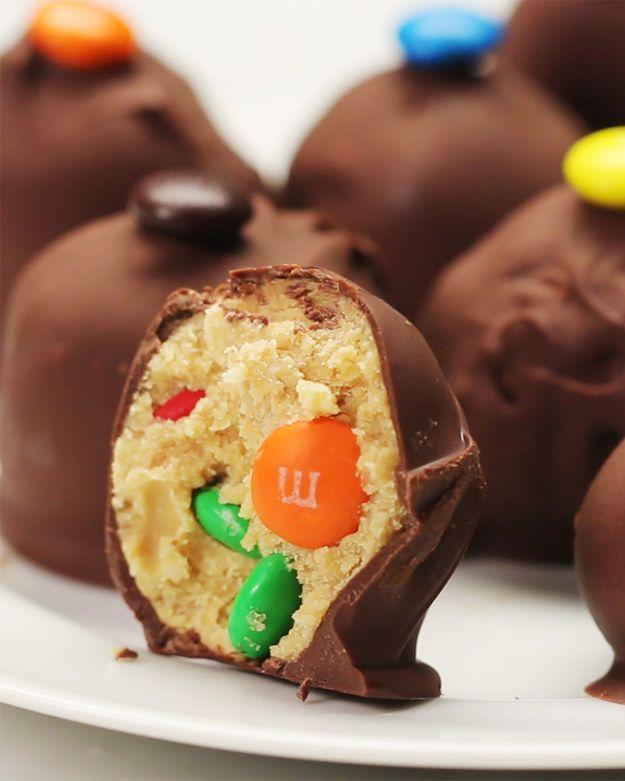 No-Bake Chocolate Peanut Butter M&M Balls