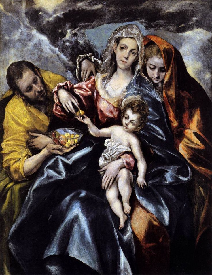 el greco paintings | El Greco, The Holy Family with Mary Magdalen , about 1590 to 1595 ...