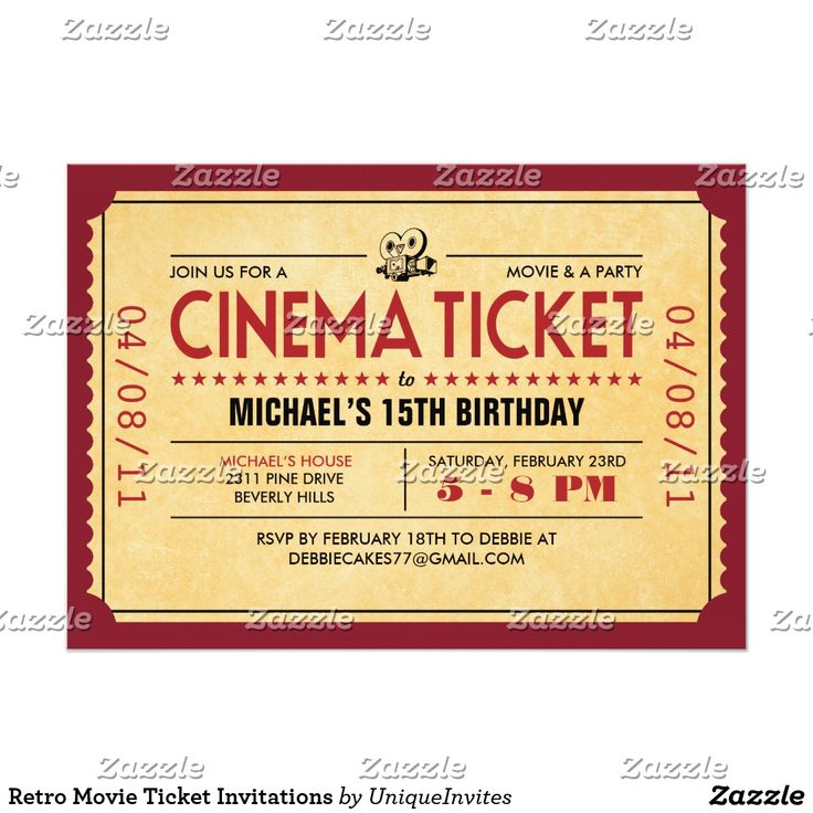 17 best Birthday images on Pinterest Birthday invitations - free printable movie ticket template