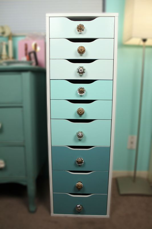 Painted Alex Drawers With Knobs Added Very Brief Diy