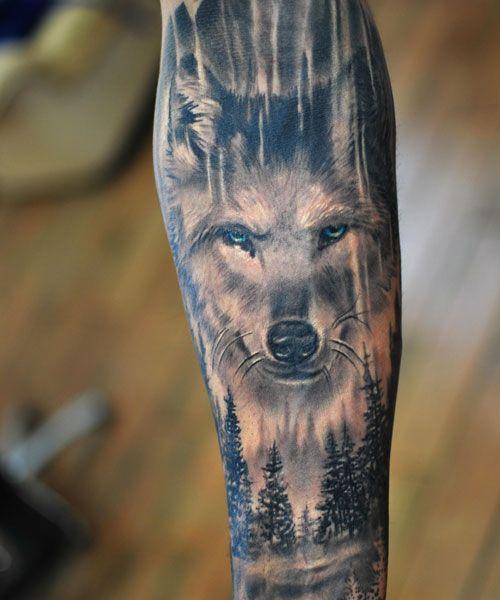 101 Best Wolf Tattoos For Men Cool Designs Ideas 2020 Guide Wolf Tattoos Men Wolf Tattoos Wolf Tattoo Sleeve