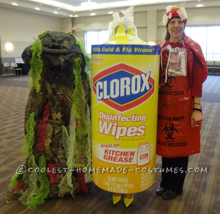 disinfectant wipe germ and biohazard waste group costume - Great Group Halloween Costume Ideas