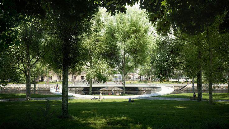 Gallery of Erik Andersson Designs Carbon Fiber Pedestrian Bridge for Gothenburg – 1