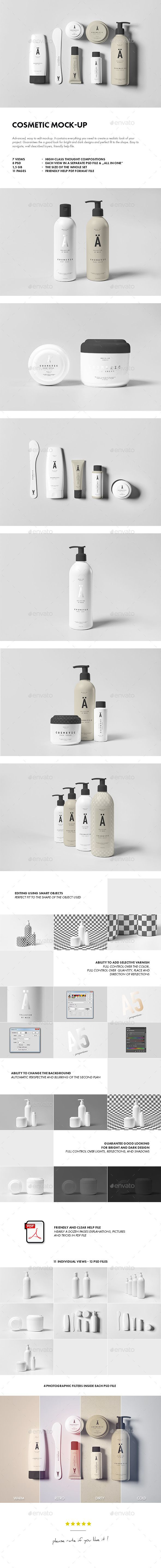Cosmetic Mock-up - Beauty Packaging #psd #mockup #cosmetics #packaging #beauty #makeup #retail