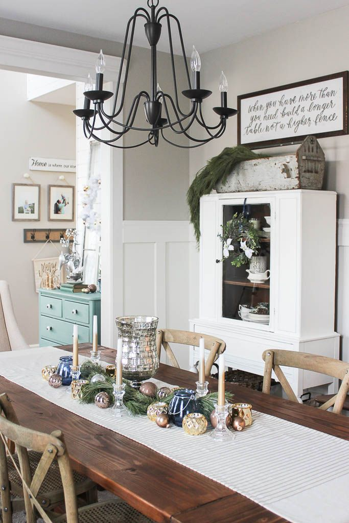Dining room table christmas centerpiece