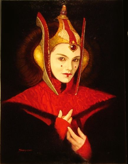 star wars princess amidala by manuel prez clemente sanjulian