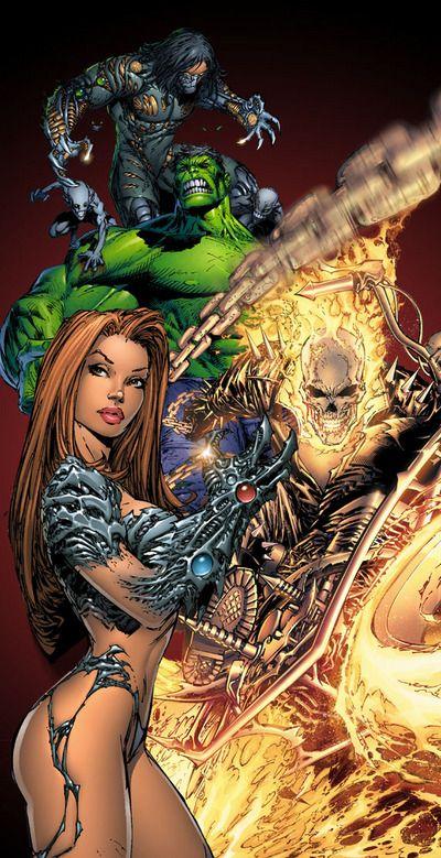 Darkness, Hulk, Ghost Rider, & Witchblade by Michael ...