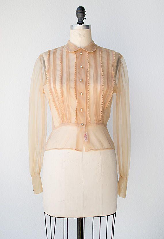 ★ vintage 1950s blouse | Fair Rosamund Blouse | #1950s #vintage